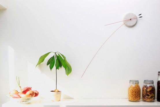 Original Minimalist Clock With Flexible Hands - DigsDi
