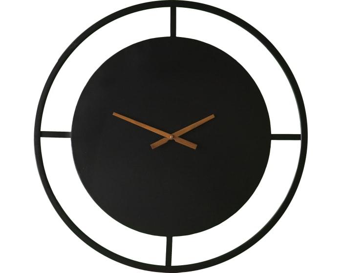 Southern Enterprises Ekstine Black Decorative Wall Clock .