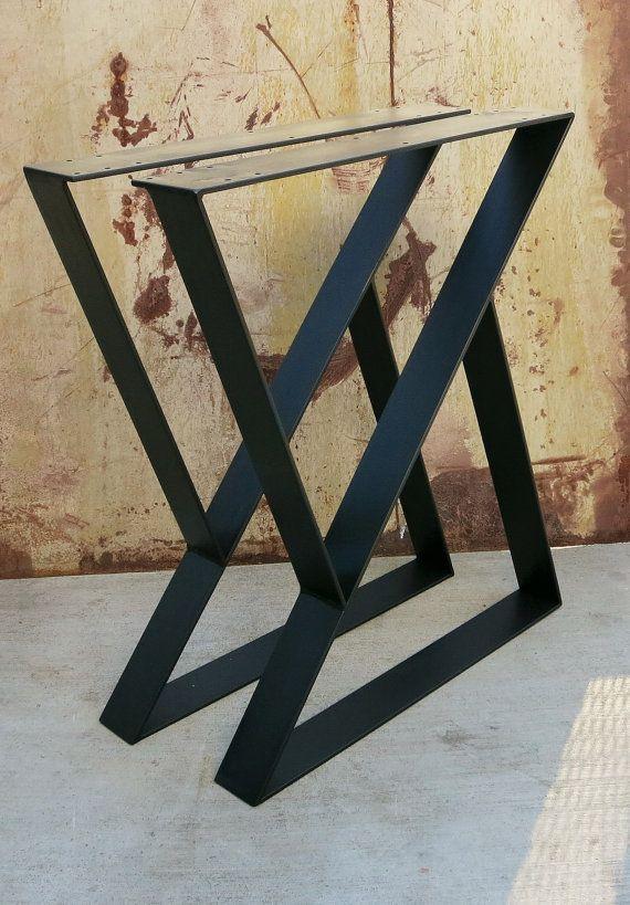 Z Metal Table Legs Set of 2 | Etsy | Metal table legs, Metal table .