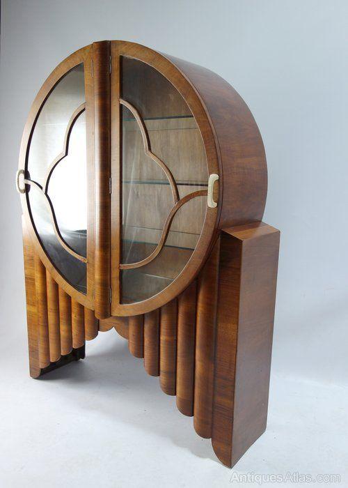 Original Art Deco Rocket Circular Display Cabinet - Antiques Atlas .