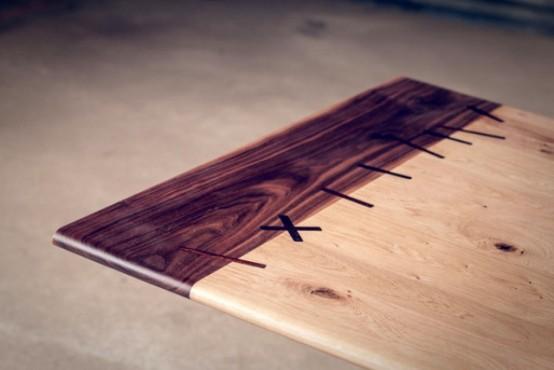 Original Rocket Dining Table From Wood And Metal - DigsDi