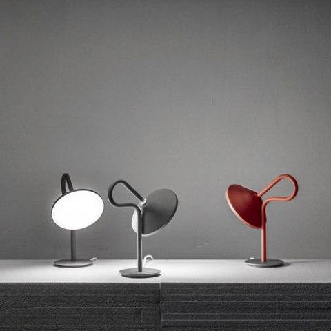 Original Round Lamp With A Looping Stem - DigsDi