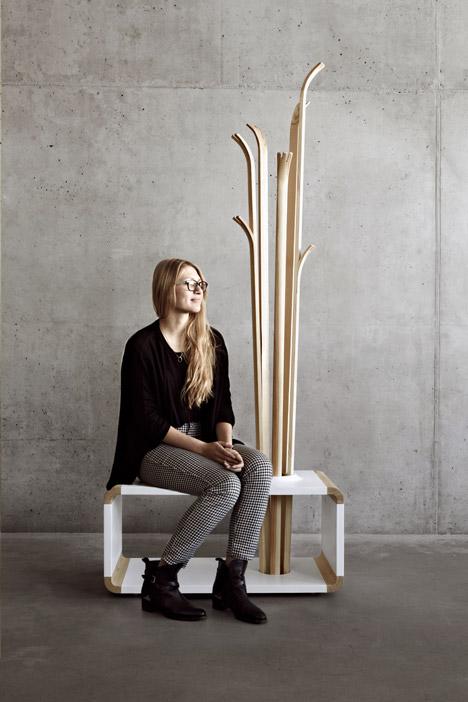 Original Tilia Coat Stand Resembling Of Skis - DigsDi