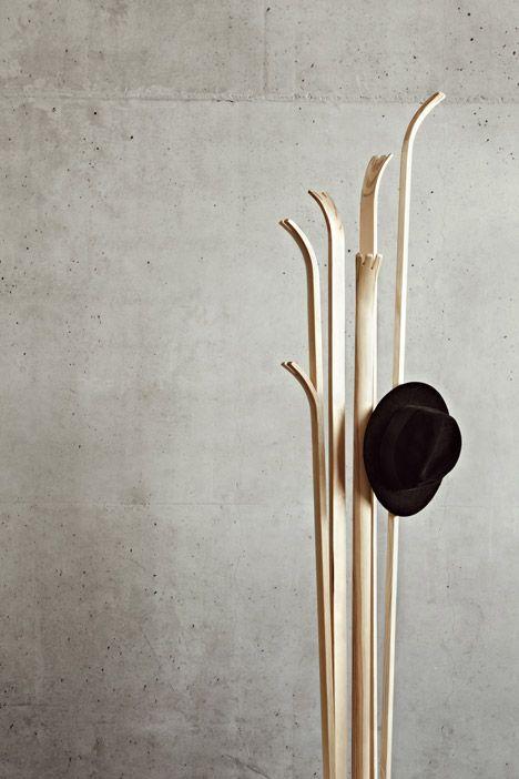 Tilia Coat Stand by Alicja Prussakowska | Wooden coat rack, Coat .