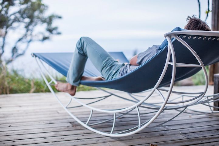 Outdoor Rocking Chair Lets Multiple People Gently Sway Together in .