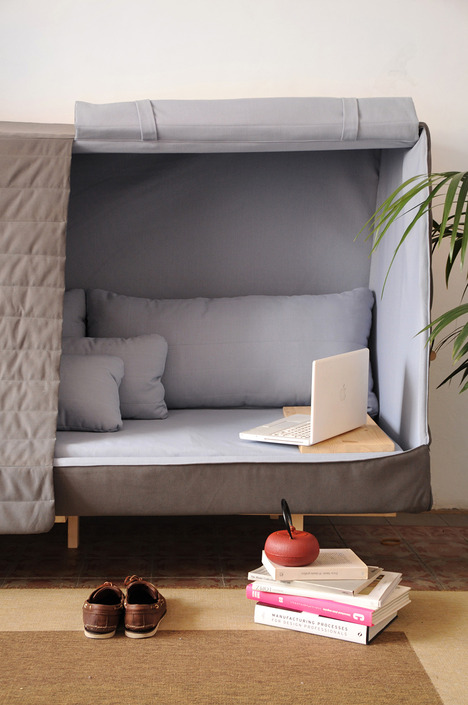 Orwell Cabin Sofa For Comfort And Intimacy - DigsDi