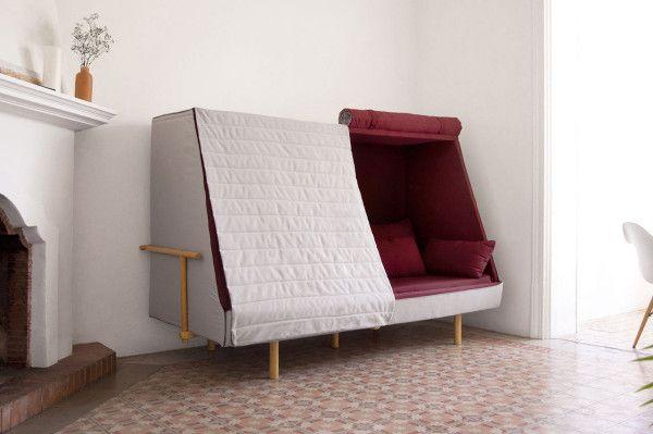 Orwell Sofa: A Private Urban Fort   Cabin furniture, Space saving .