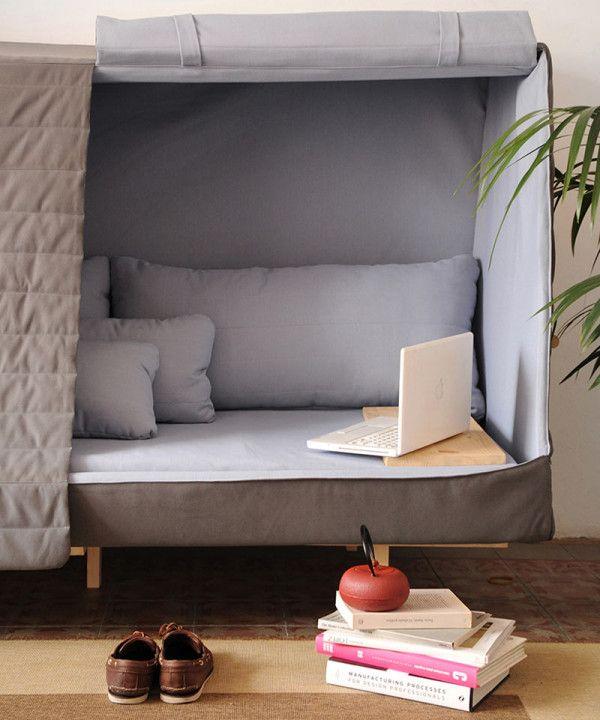 Orwell Sofa: A Private Urban Fort   Sofa fort, Furniture, Cabin .