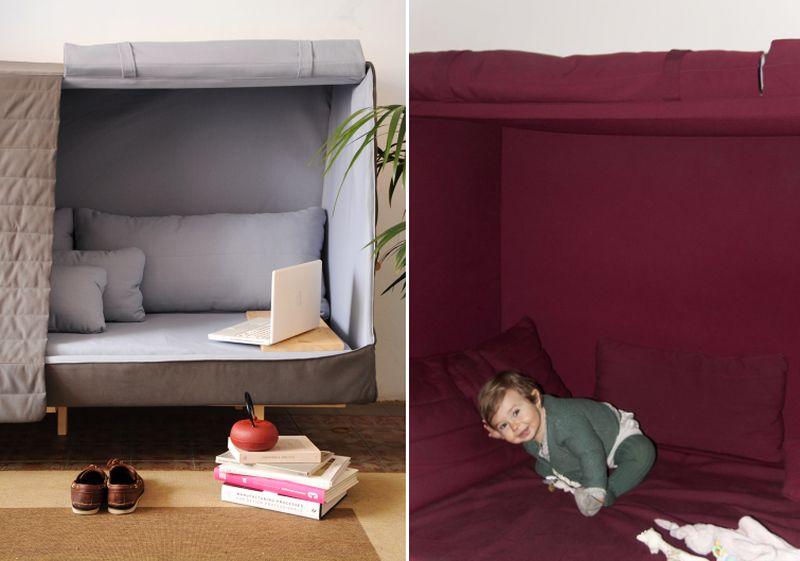 Orwell Sofa-Bed-Cabin Recaptures Intimacy of Ho