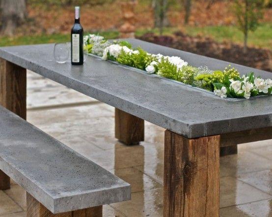 Best Diy Crafts Ideas : Outdoor Décor Trend: 26 Concrete Furniture .