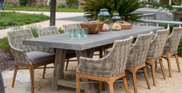 Bordeaux Concrete Top Table - Outdoor Furniture | Terra Pat