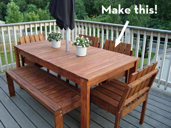 Make It: A Simple Outdoor Dining Table on the Cheap! | Outdoor .
