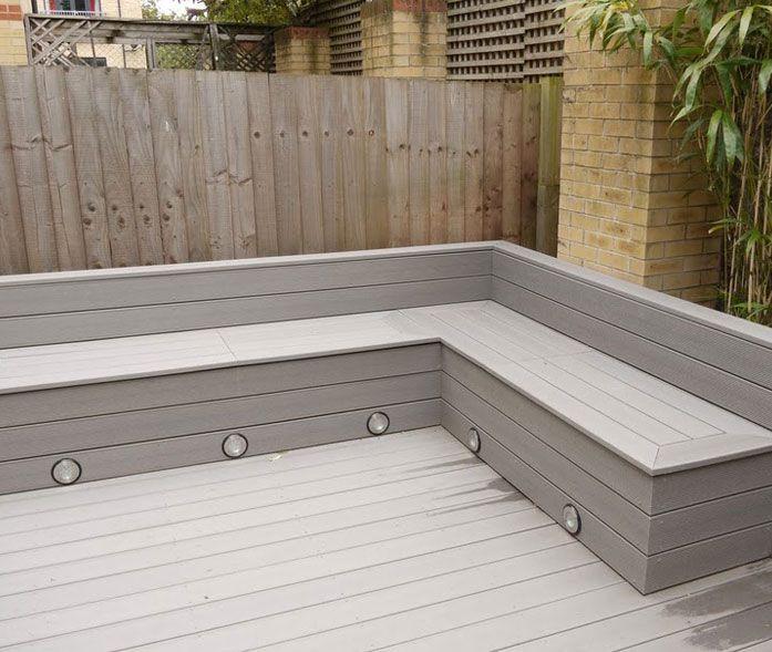 Michael Greenall | Decking in Poole | Deck garden, Garden seating .