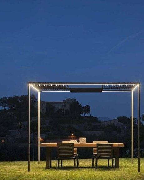 Gazebo with built-in lights PALO ALTO by @Leah Brochu | #design .