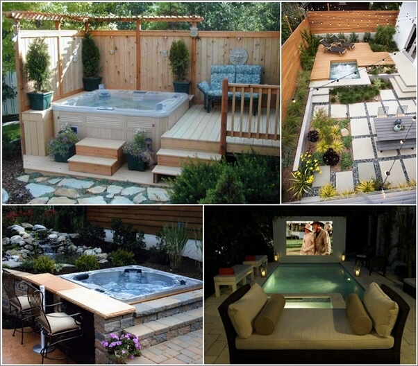 20 Relaxing Outdoor Jacuzzi Ideas You Will Admi