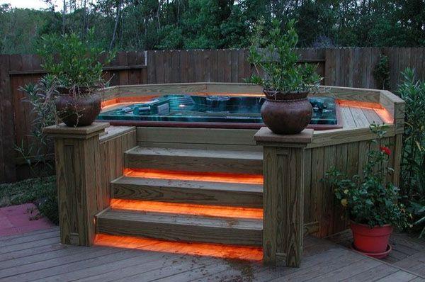 47 Irresistible hot tub spa designs for your backyard   Hot tub .