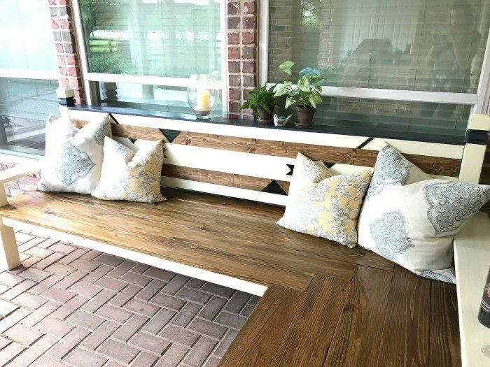Outdoor DIY L Shaped Bench Build, just $130 - Abbotts At Ho