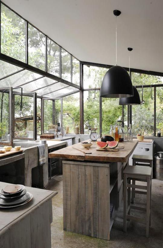 A Wall of Windows in the Kitchen | Kitchen inspirations, Kitchen .