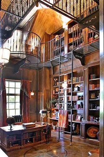 Discover these Outstanding Home Library Designs | Decoração de .
