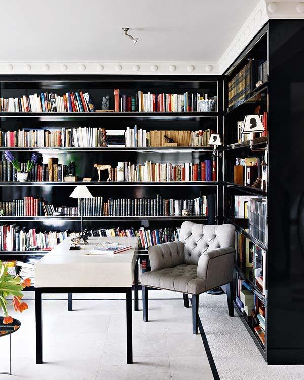Pin by Salah Ben Ali on Bookshelfs | Home library design, Home .