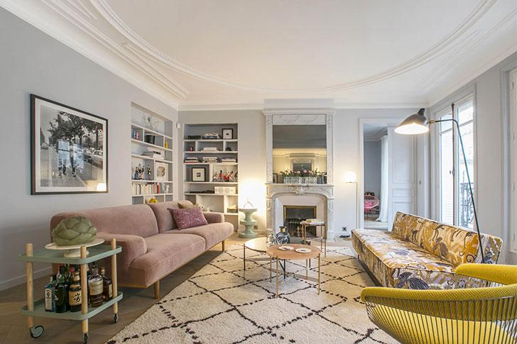 Apartment in Paris: modern interiors, interesting details and .