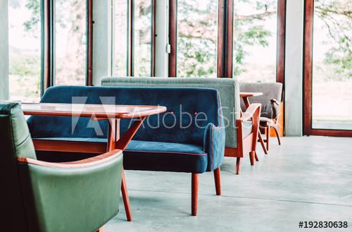 Beautiful retro furniture vintage armchair sofa interior with .