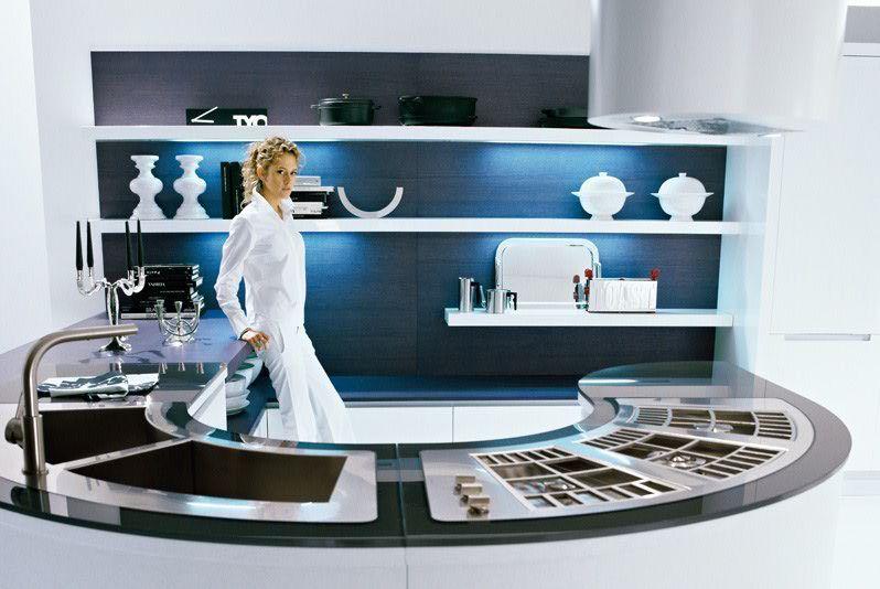 pedini-round-futuristic-kitchen - DigsDigs | Modern kitchen design .