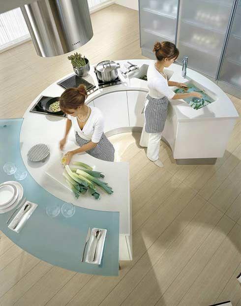 Round Modern Kitchen Countetops from Pedini | Cuisine ronde .
