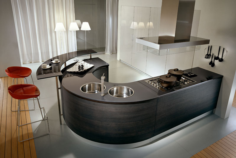 Pedini Kitchens With Rounded Countertops - DigsDi