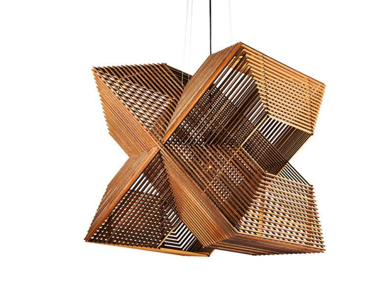 Pendant Lamp Made Up Of Laser Cut Rectangles - DigsDi