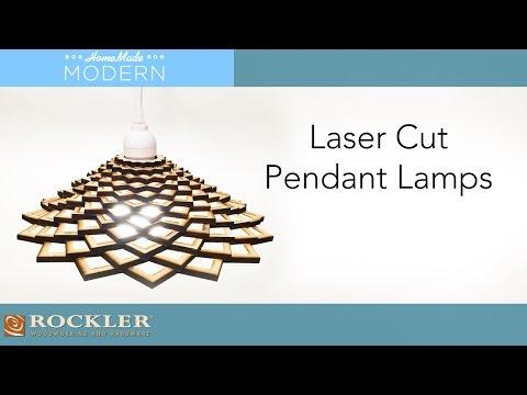 Laser Cut Pendant Lamp Project | HomeMadeModern - YouTu