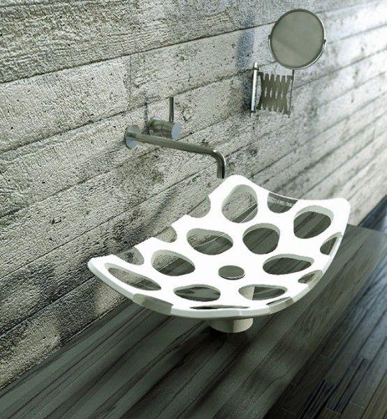Penta Vessel Sink Of Two Contrasting Materials | Sink design .