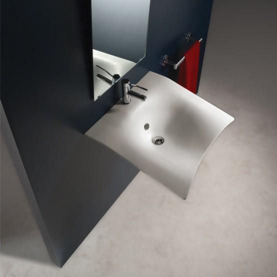 contemporary bathroom sinks Archives - DigsDi