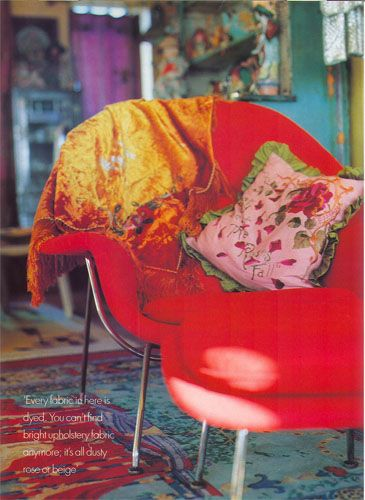 Betsey Johnson's apartment. Red & Turquoise. Sigh! | Betsey .