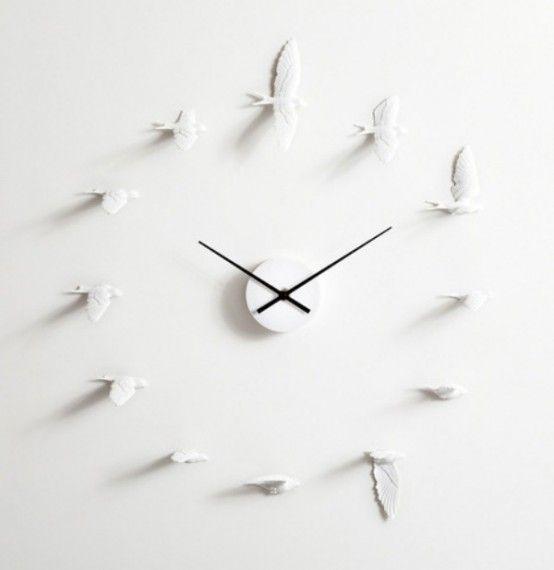 Philosophic And Romantic Flying Swallows Clock | Design, Design de .