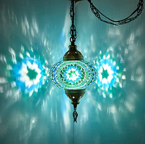 Choose from 12 Designs) Turkish Moroccan Mosaic Glass Chandelier .