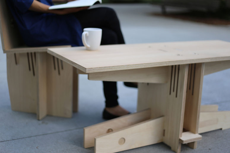 Modern Knock Down Plywood Furniture Made With No Screws - DigsDi