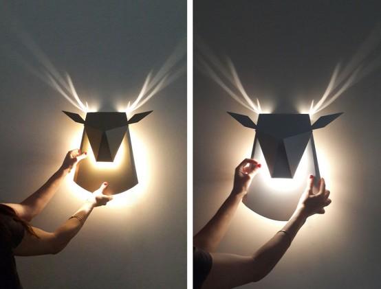Popup Reindeer Cardboard Light With Shiny Antlers - DigsDi