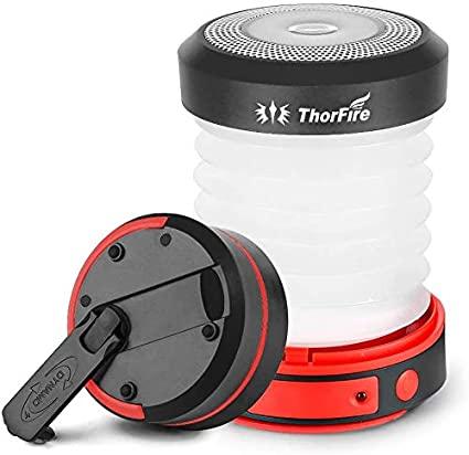 Amazon.com: ThorFire LED Camping Lantern Lights Hand Crank USB .