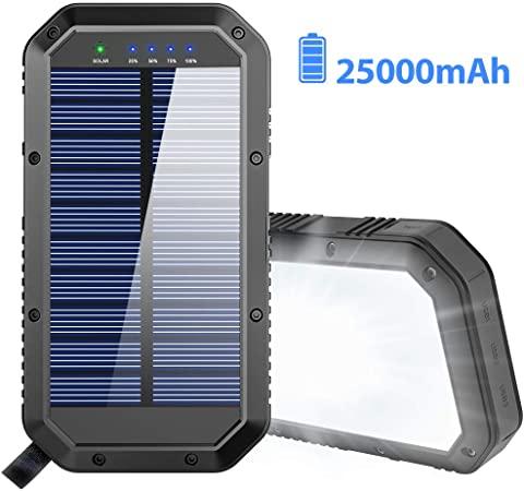 Amazon.com: Solar Charger, 25000mAh Battery Solar Power Bank .