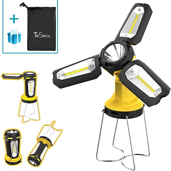 Amazon.com: TESECU LED Camping Lantern Rechargeable, Portable .