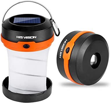 Amazon.com: HISVISION Solar Powered LED Camping Lantern .