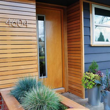 Midcentury Wood Slat Exterior Design Ideas, Pictures, Remodel and .