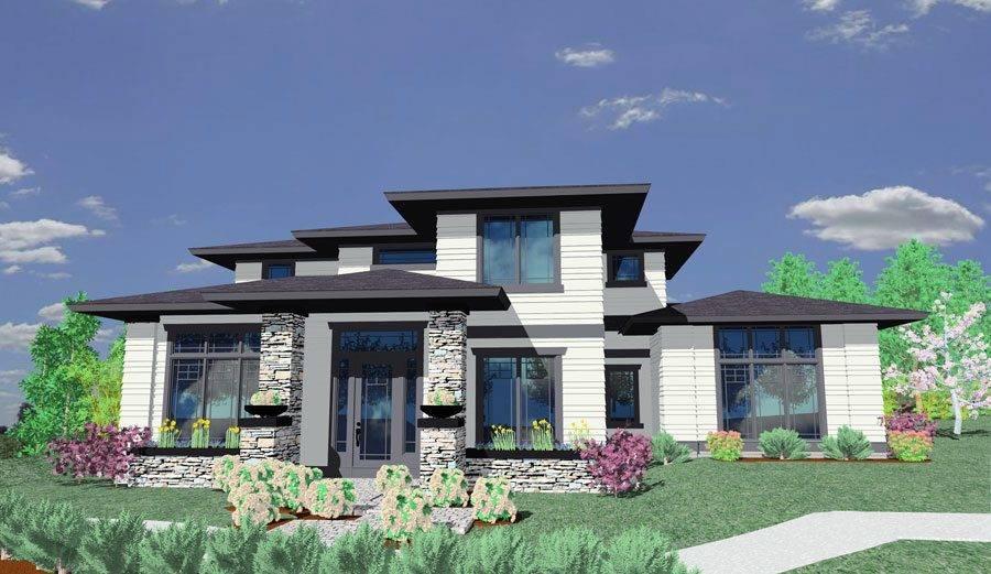 Prairie Style House Plan Architectural Designs - Home Plans .