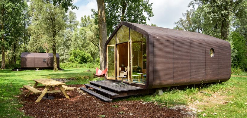 living in cardboard: the adaptable wikkelhouse dwelling is built .