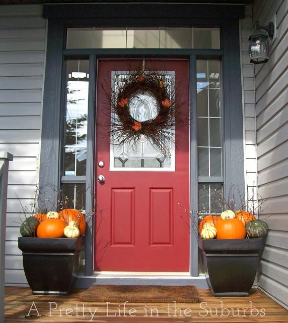 Fall Porch Decorating Ideas - A Pretty Life In The Subur