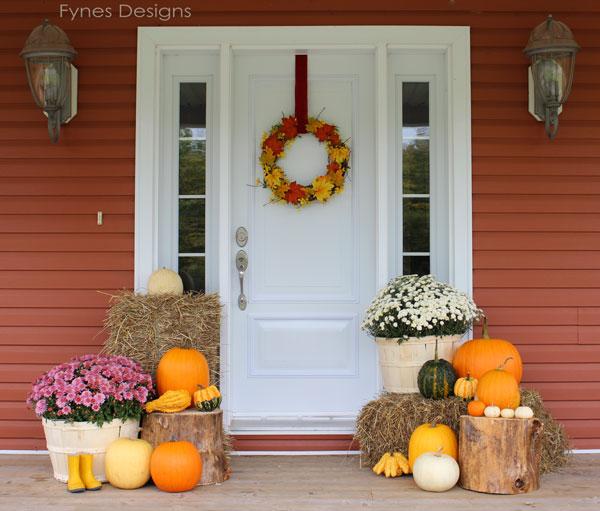 Fall Porch Decorating Ideas | FYNES DESIG