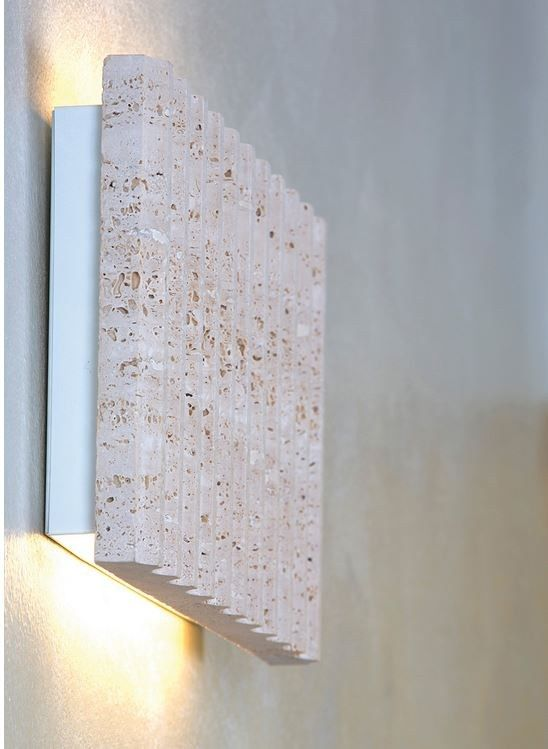 LED #travertine wall light ROMA Stone Collection by @ilide italian .
