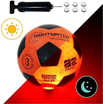 Amazon.com : NIGHTMATCH Light Up LED Kids Soccer Ball - INCL. Ball .