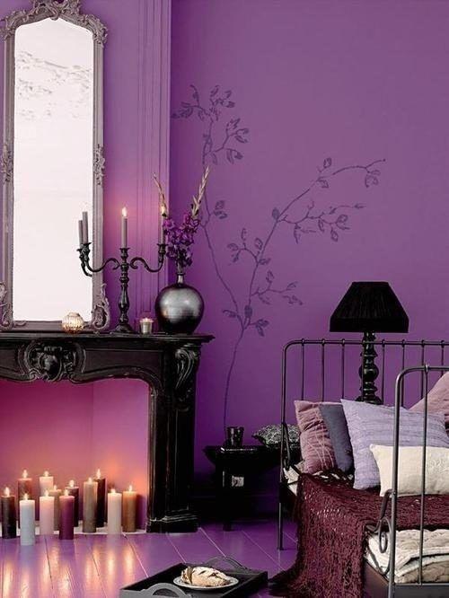 Purple Accents In Bedrooms – 51 Stylish Ideas | Romantic purple .